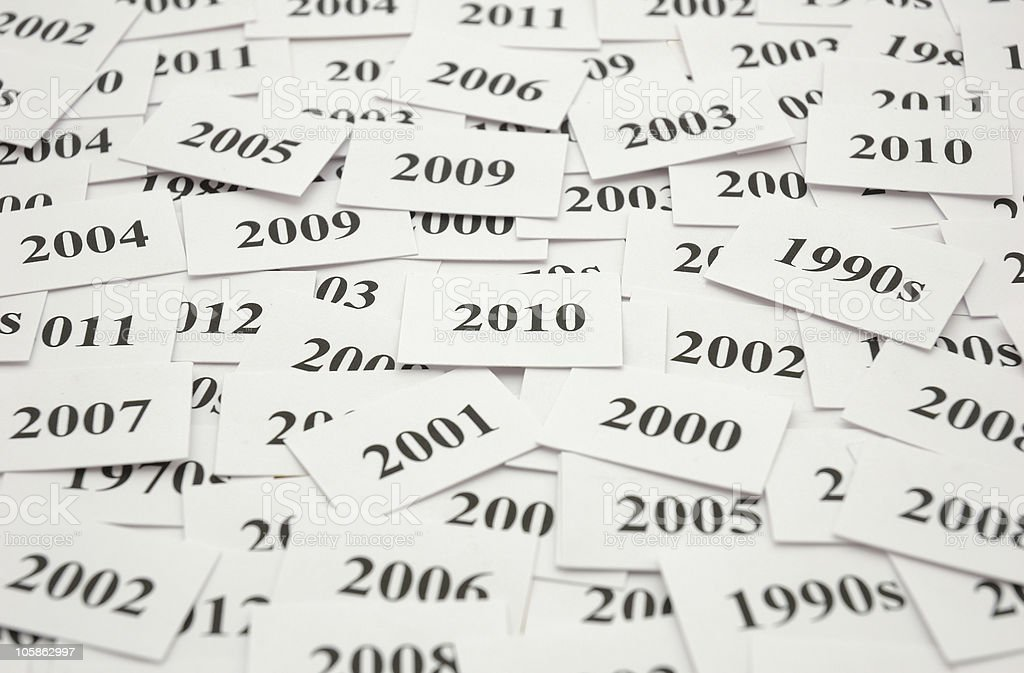 New Year 2010! Time Word Theme. royalty-free stock photo