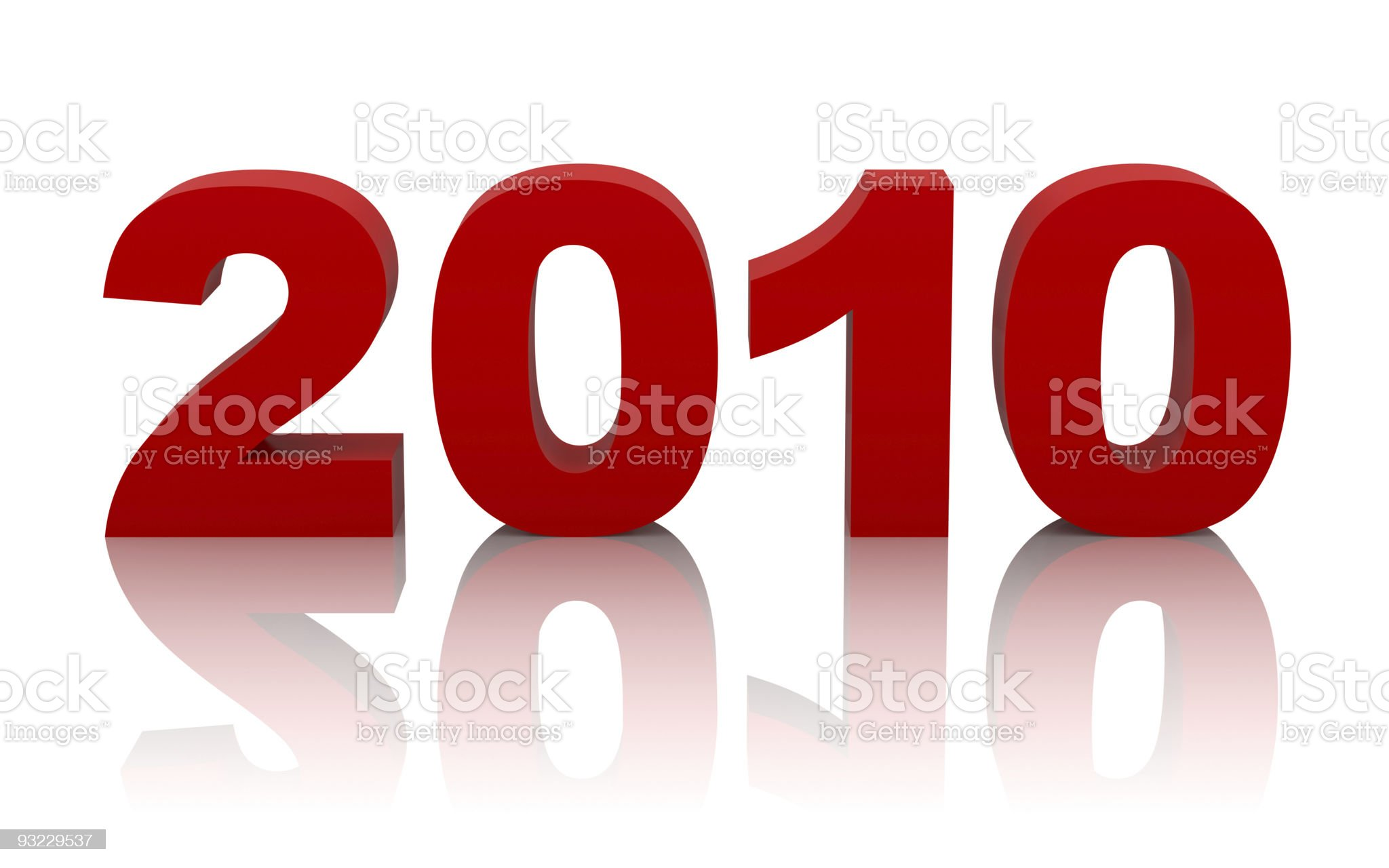 new year 2010 with clipping path royalty-free stock photo