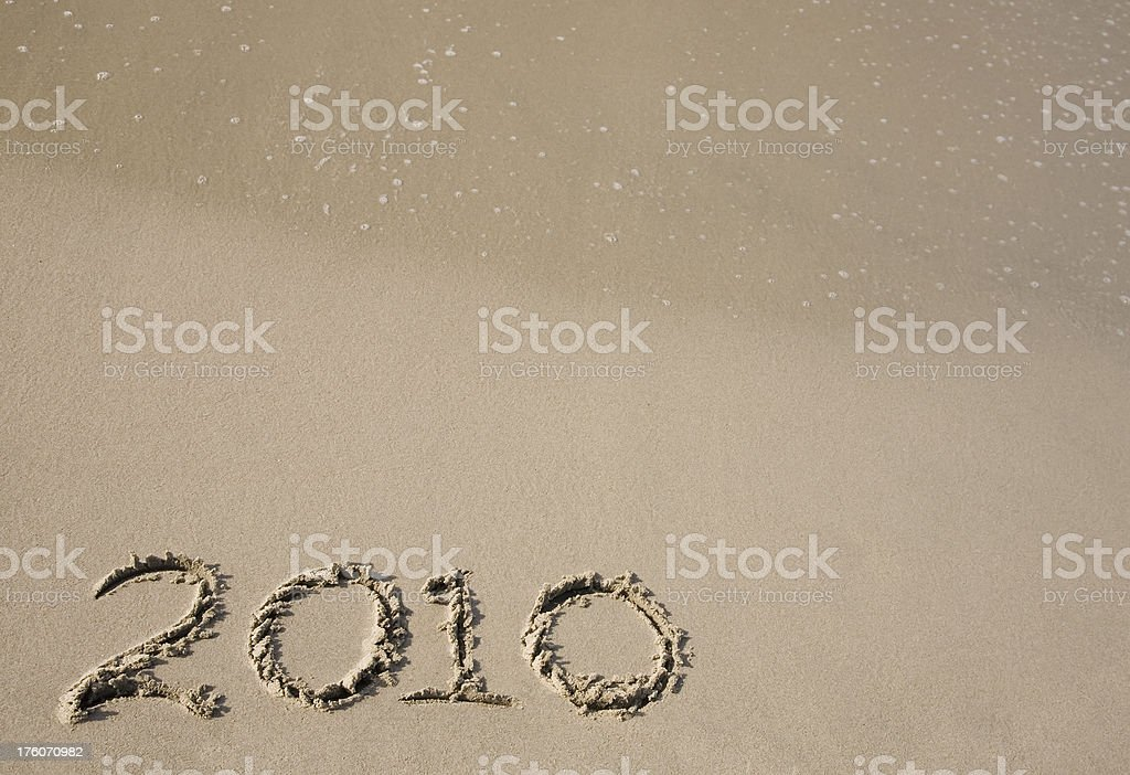 New Year 2010 written with empty space stock photo