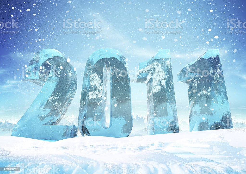 New Year 2011 background royalty-free stock photo