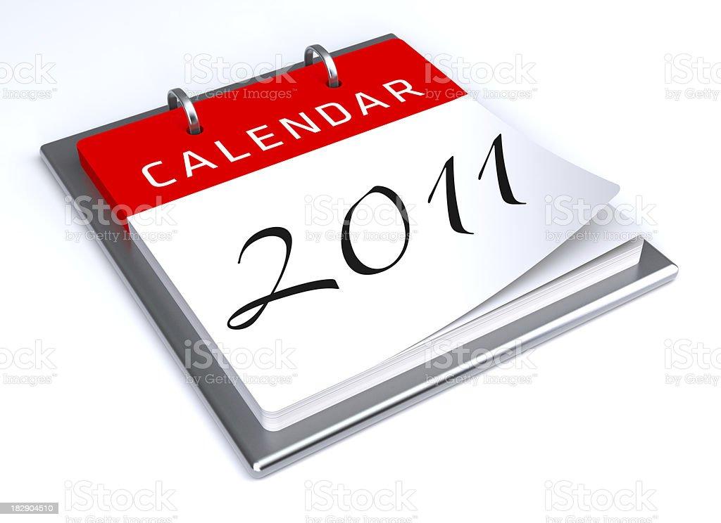 New Year 2011 Calendar royalty-free stock photo