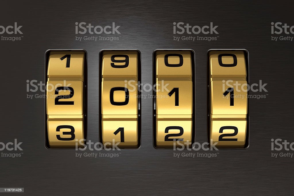 New Year 2011 code lock royalty-free stock photo