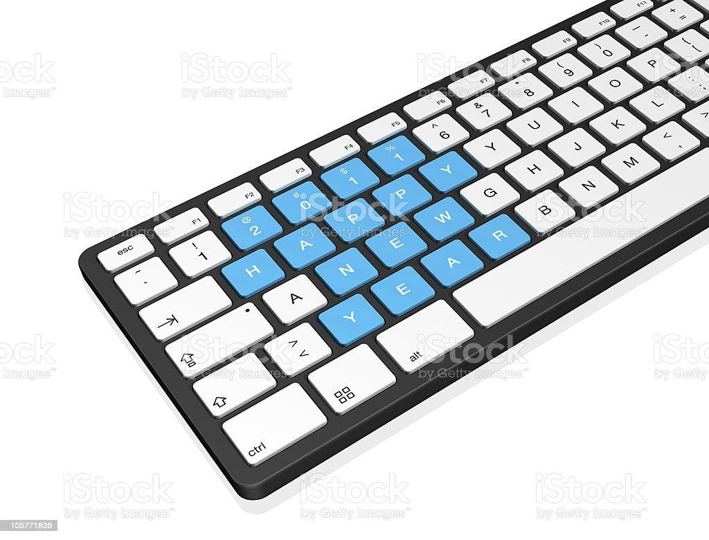 New year 2011 computer keyboard royalty-free stock photo