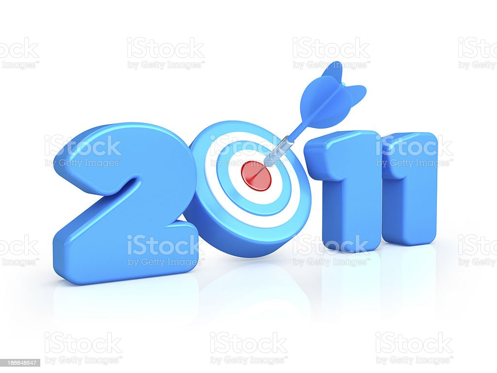 new year 2011 concepts royalty-free stock photo
