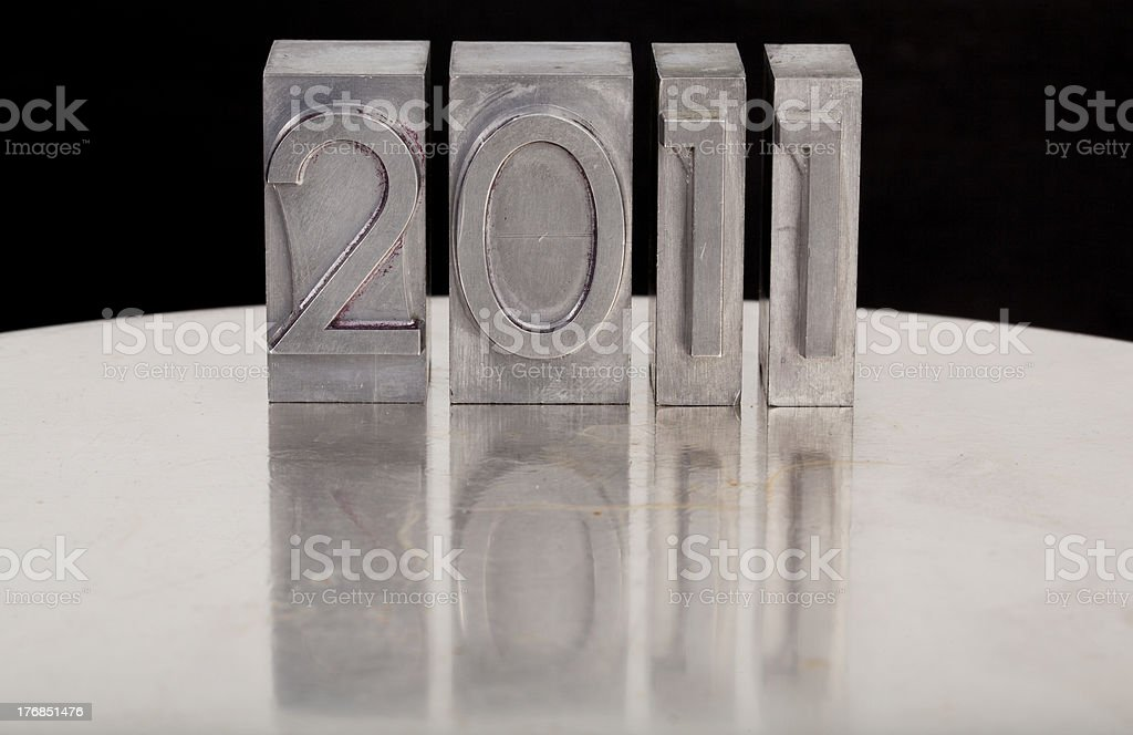 new year 2011 in lettepress type royalty-free stock photo