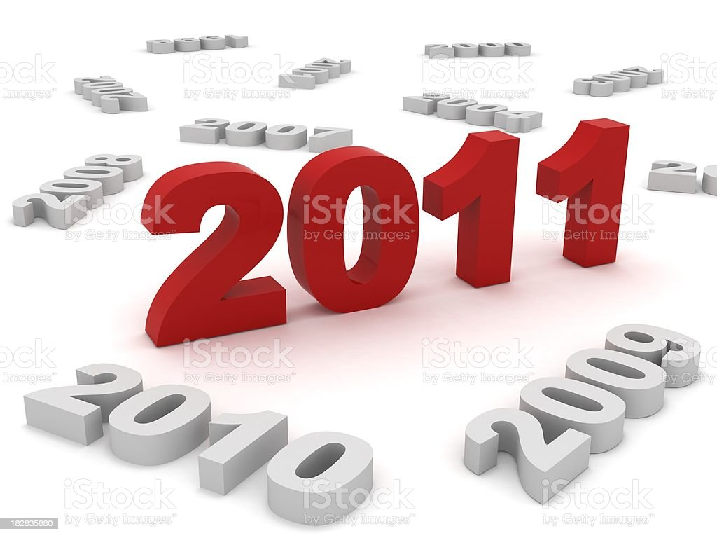 New Year 2011 royalty-free stock photo