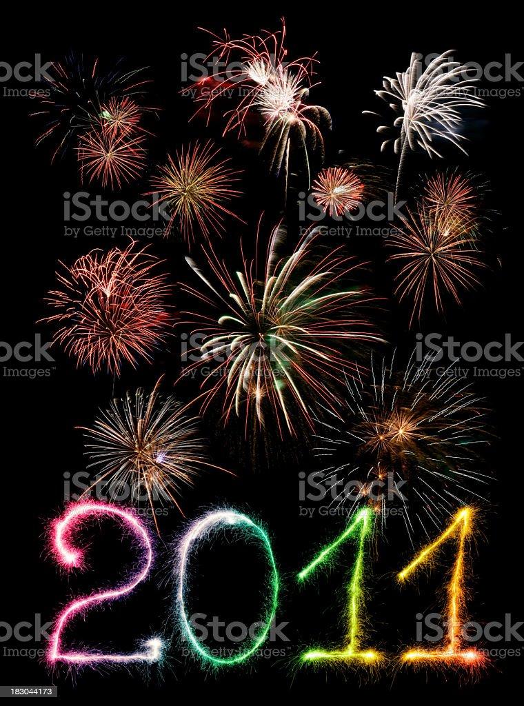 New Year 2011 royalty-free stock photo