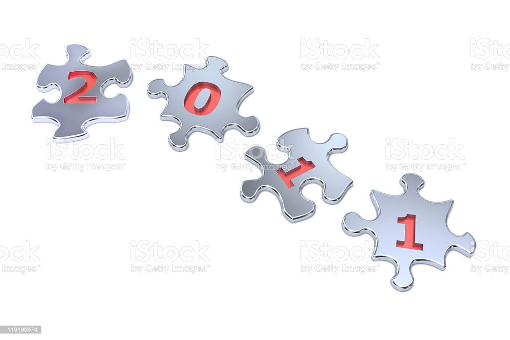 New Year 2011 Puzzle stock photo