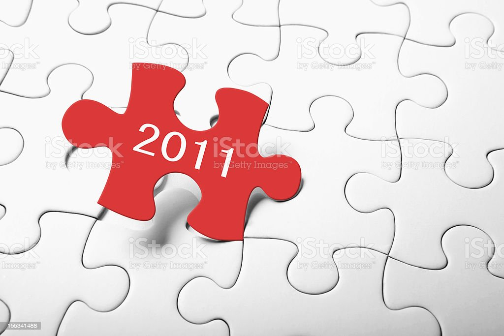 New Year 2011 Puzzle royalty-free stock photo