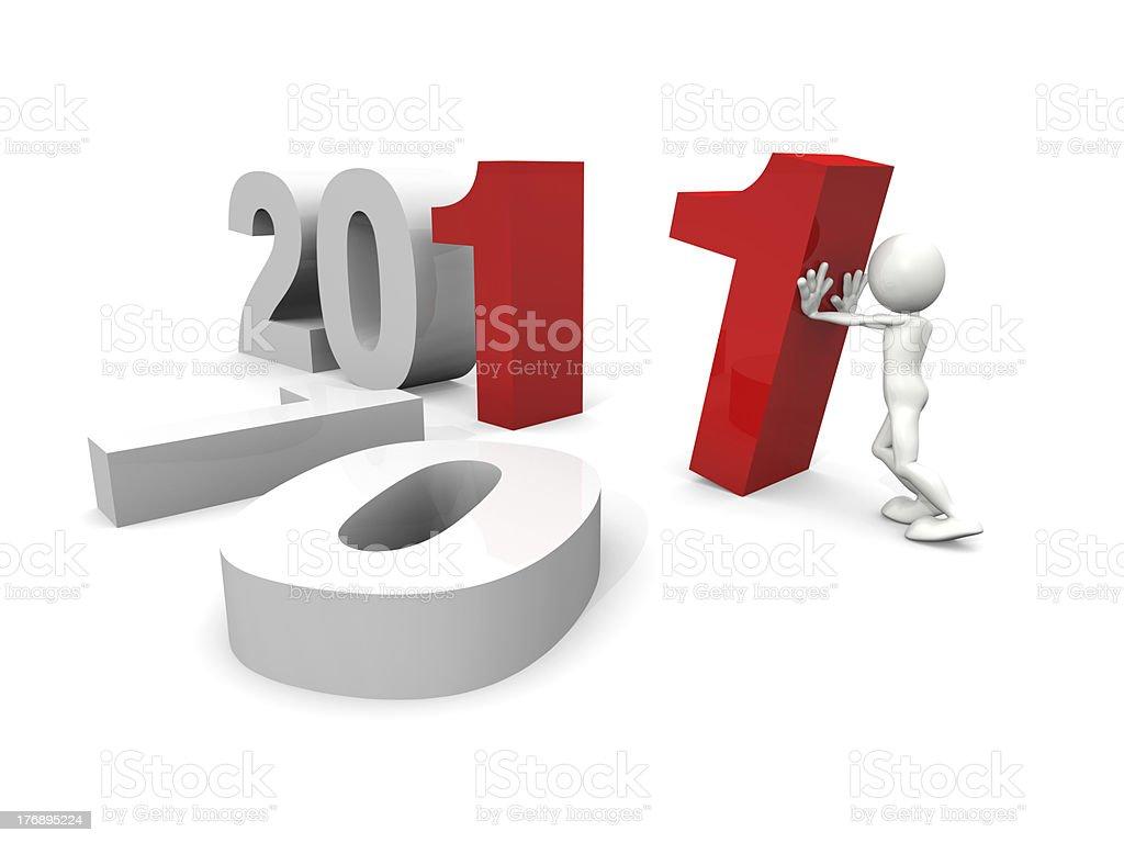 Nuevo año 2011, en construcción foto de stock libre de derechos