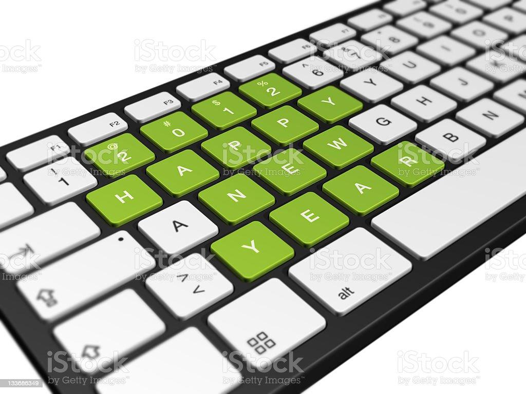 New year 2012 computer keyboard royalty-free stock photo