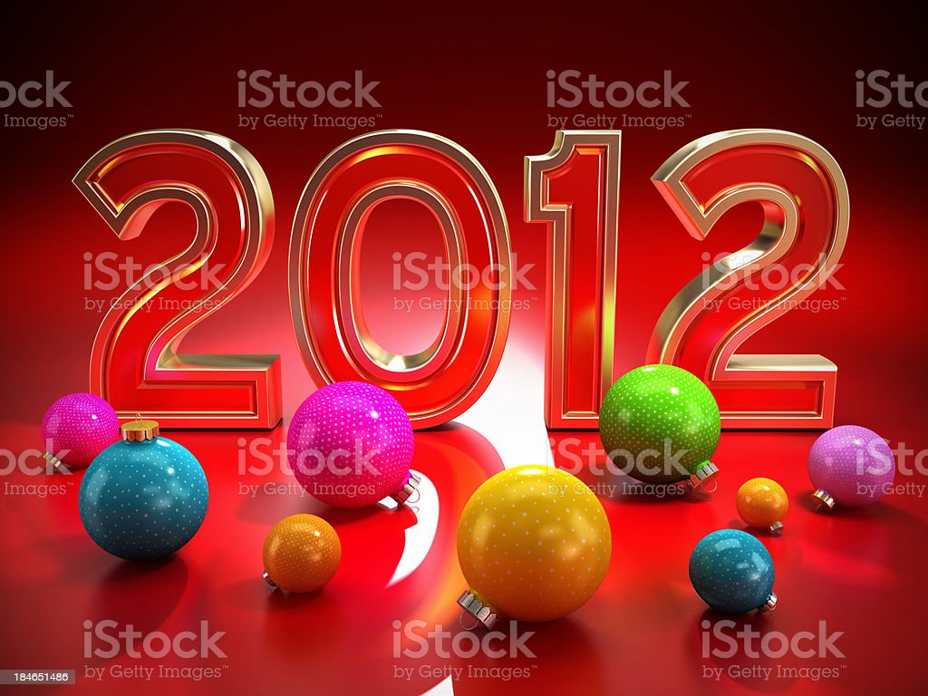 New year 2012 concept royalty-free stock photo