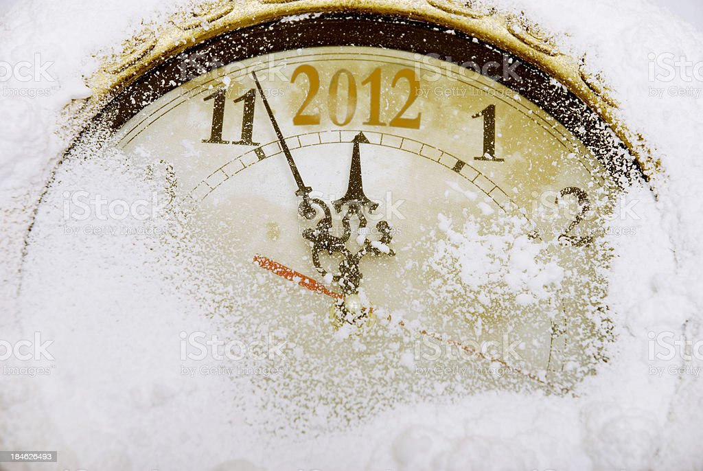 New year 2012 countdown royalty-free stock photo