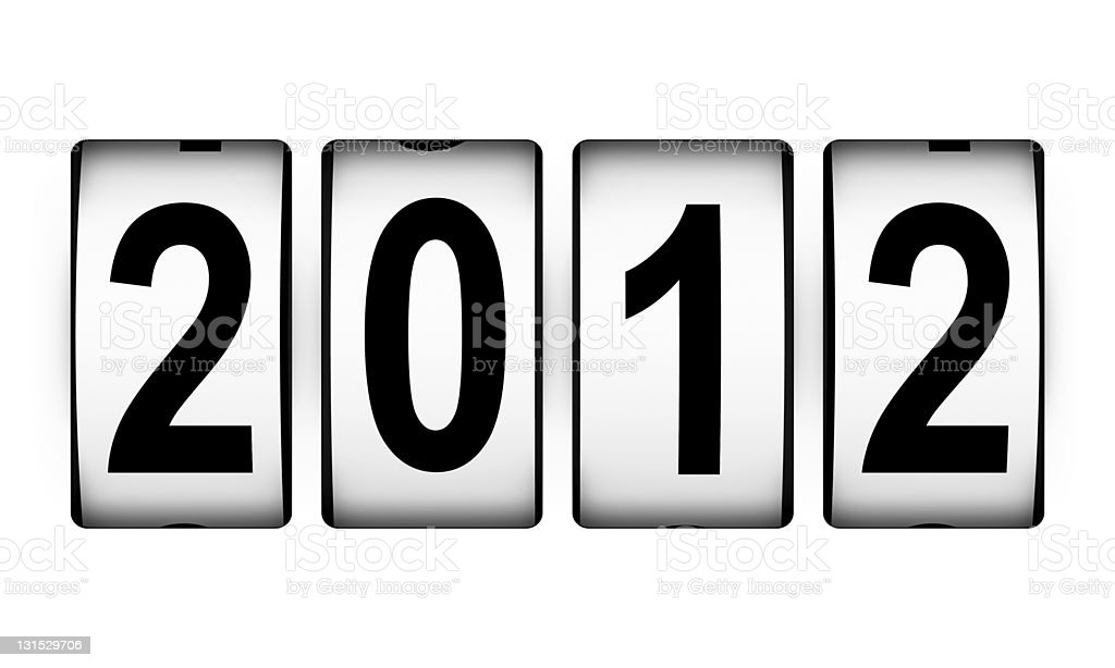 New Year 2012 counter royalty-free stock photo