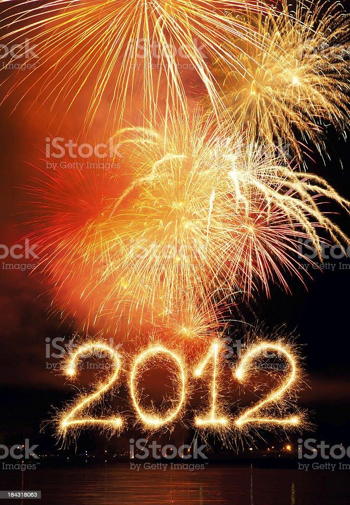New Year 2012 royalty-free stock photo