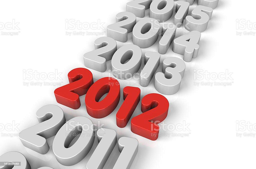 New Year 2012 stock photo