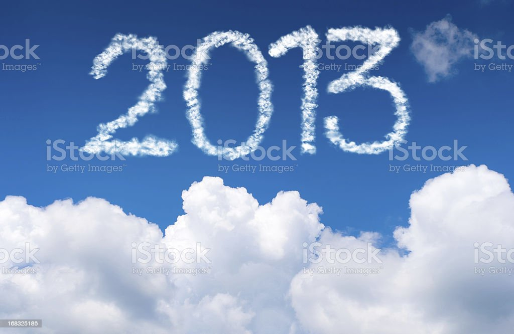 New Year 2013 And Cloudy sky royalty-free stock photo