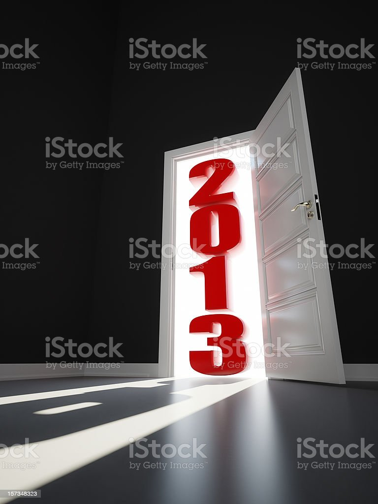 new year 2013 arrives royalty-free stock photo