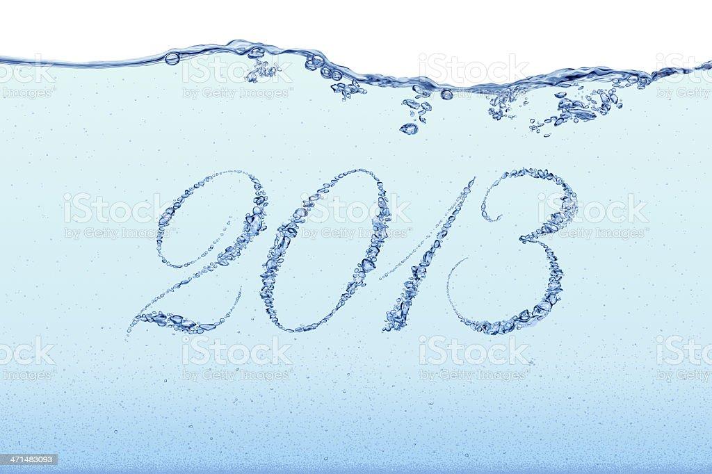 New Year 2013 - Bubbles royalty-free stock photo