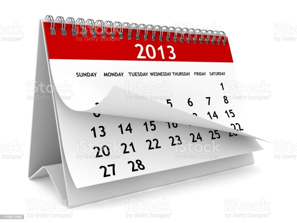 New Year 2013 Calendar royalty-free stock photo