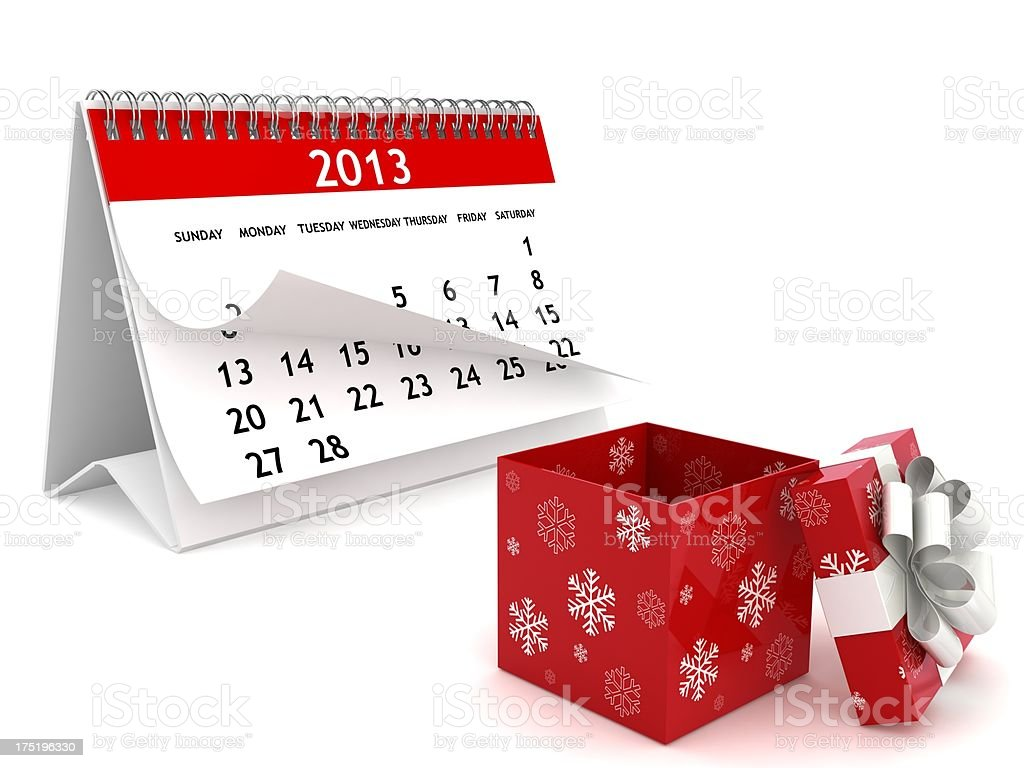 New Year 2013 Gift royalty-free stock photo