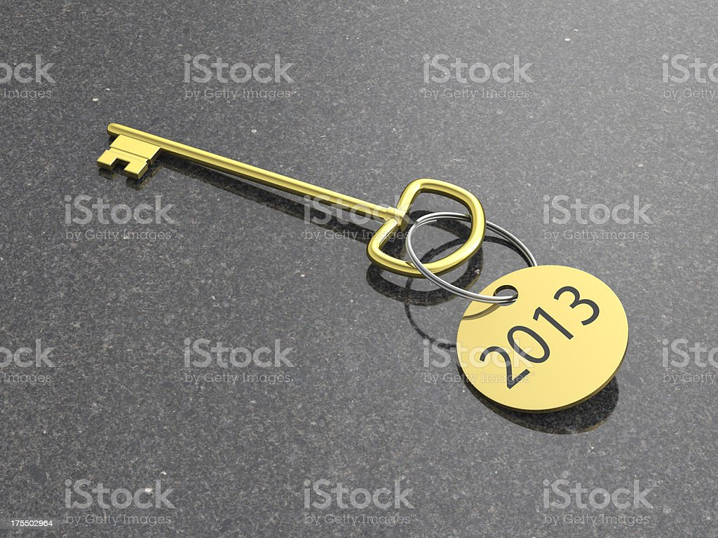new year 2013 hotel key stock photo
