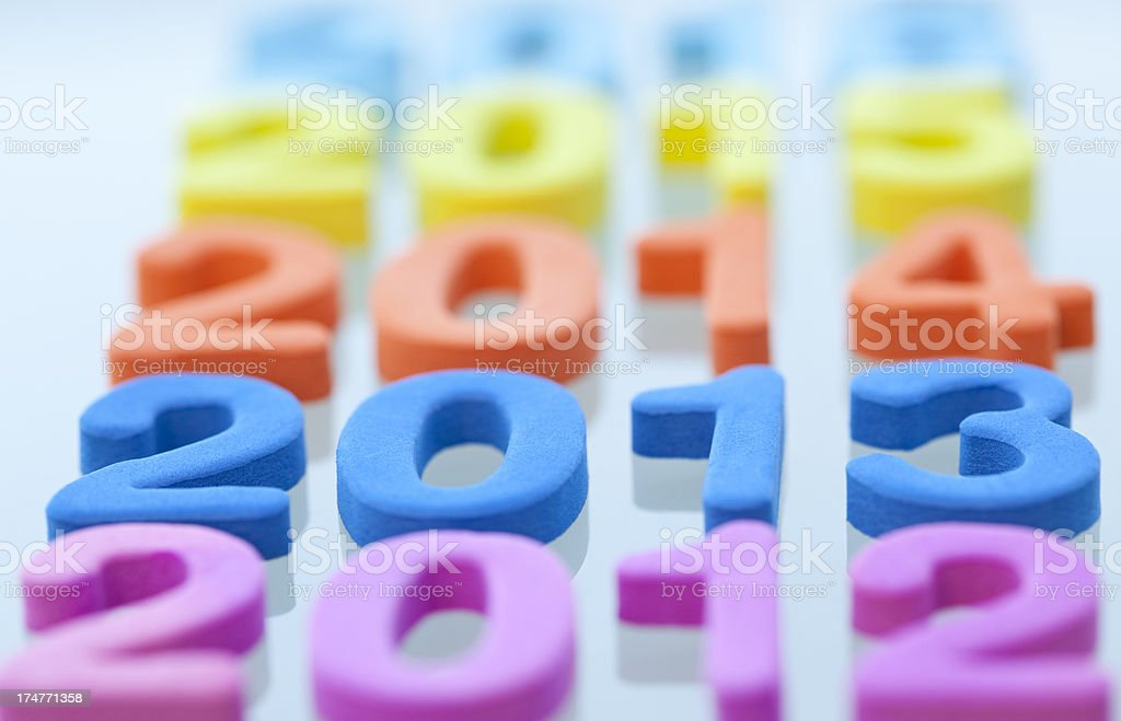 New Year 2013 is coming. stock photo
