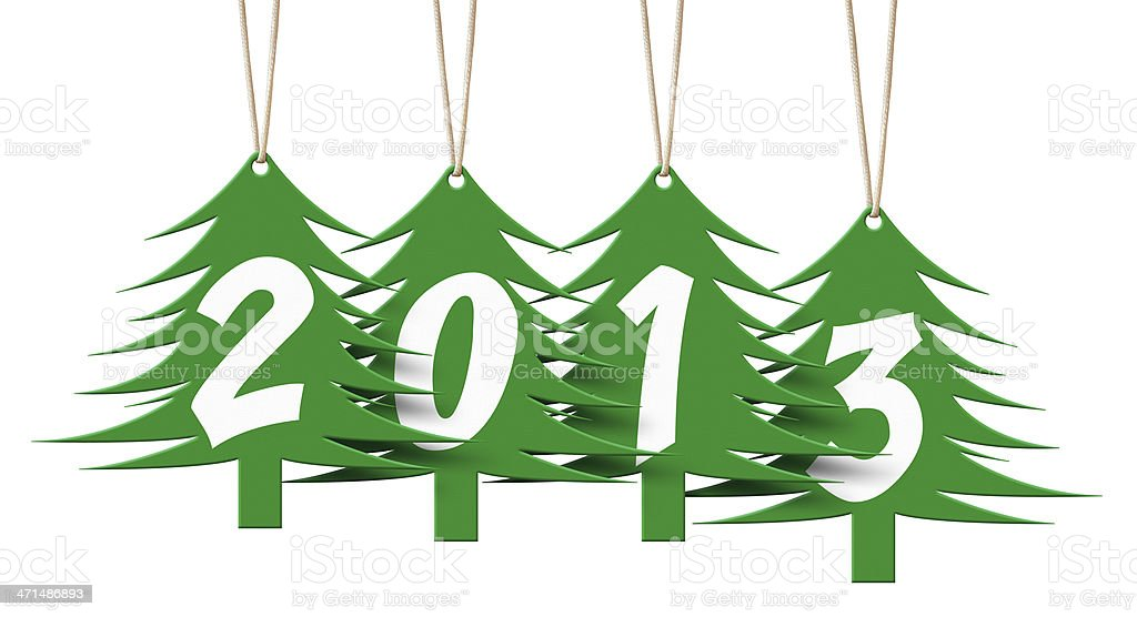 New year 2013 tags royalty-free stock photo
