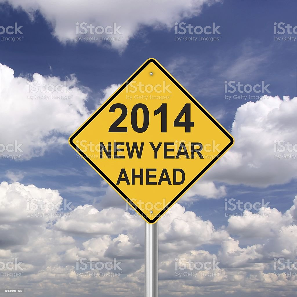New Year 2014 Ahead royalty-free stock photo