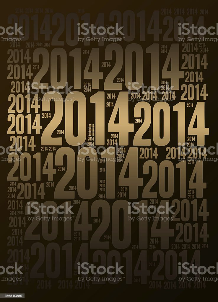New Year 2014 background stock photo