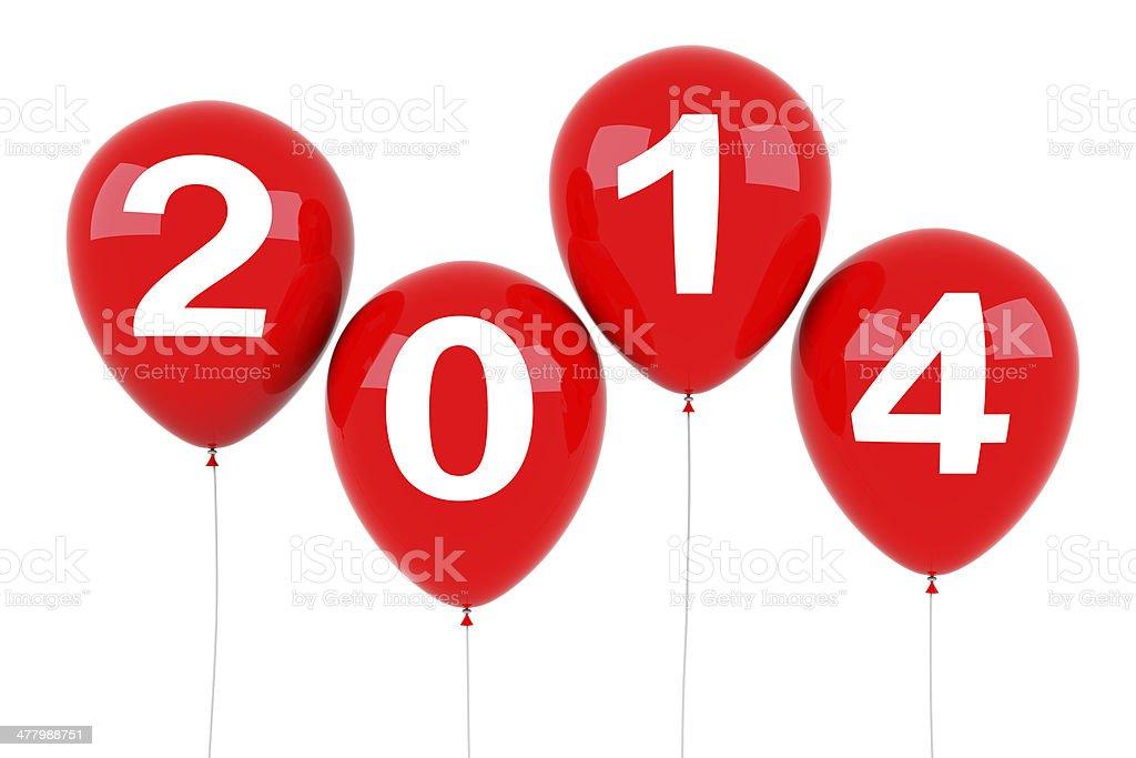 New Year 2014 Balloons royalty-free stock photo