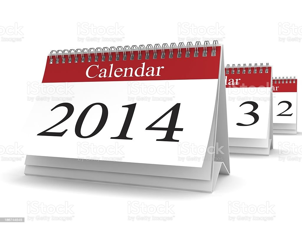 New Year 2014 Calendar royalty-free stock photo