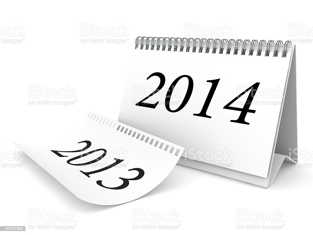 New Year 2014 Calendar royalty-free stock photo