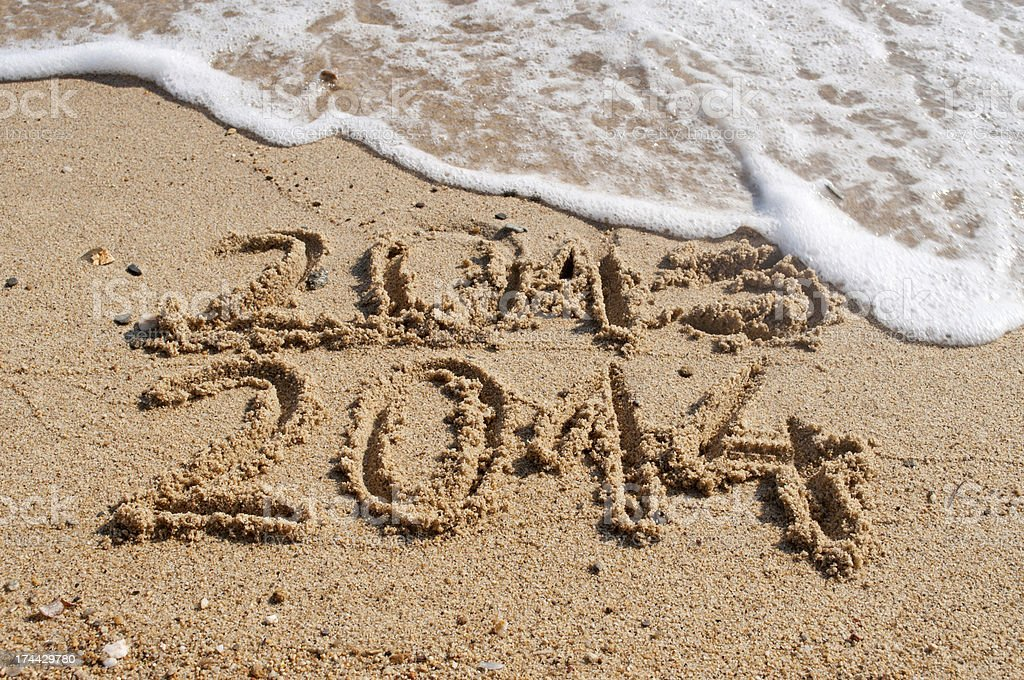 New year 2014 coming royalty-free stock photo