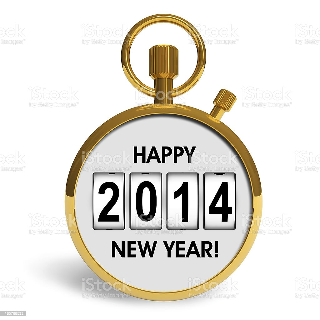 New Year 2014 concept royalty-free stock photo