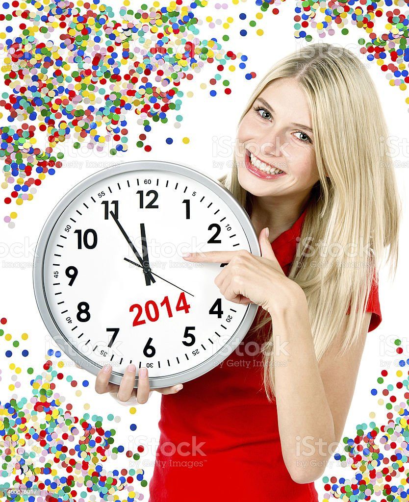 new year 2014. five to twelve stock photo