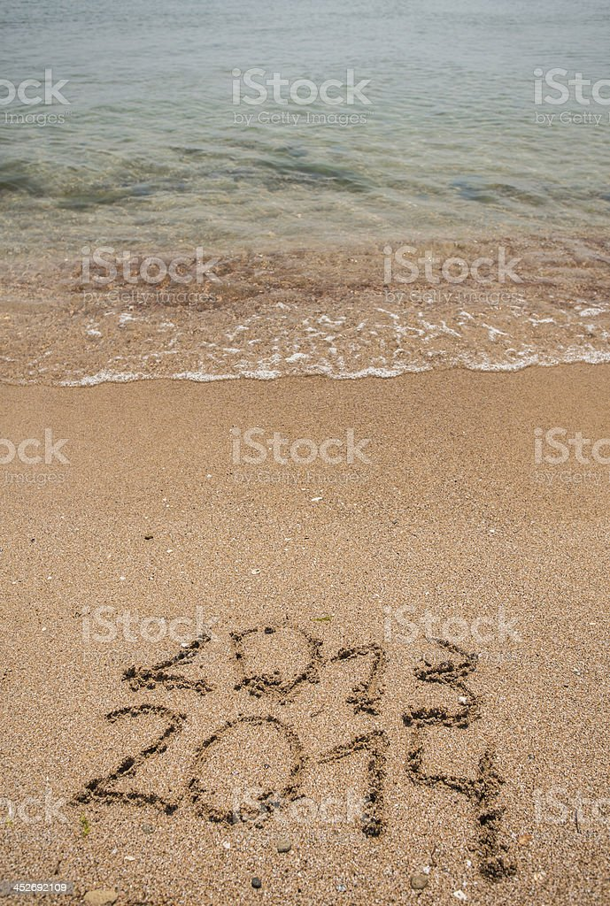 New Year 2014 is coming concept stock photo