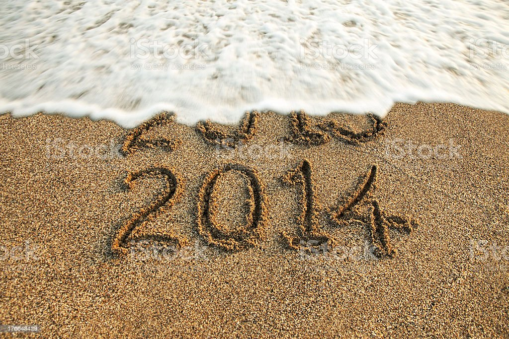New year 2014 is coming stock photo