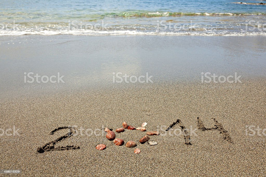 New Year 2014 is coming. royalty-free stock photo