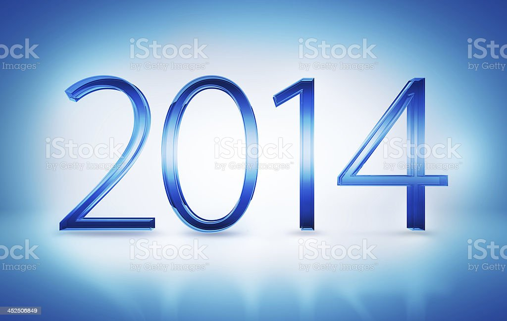 New Year 2014 Numbers stock photo