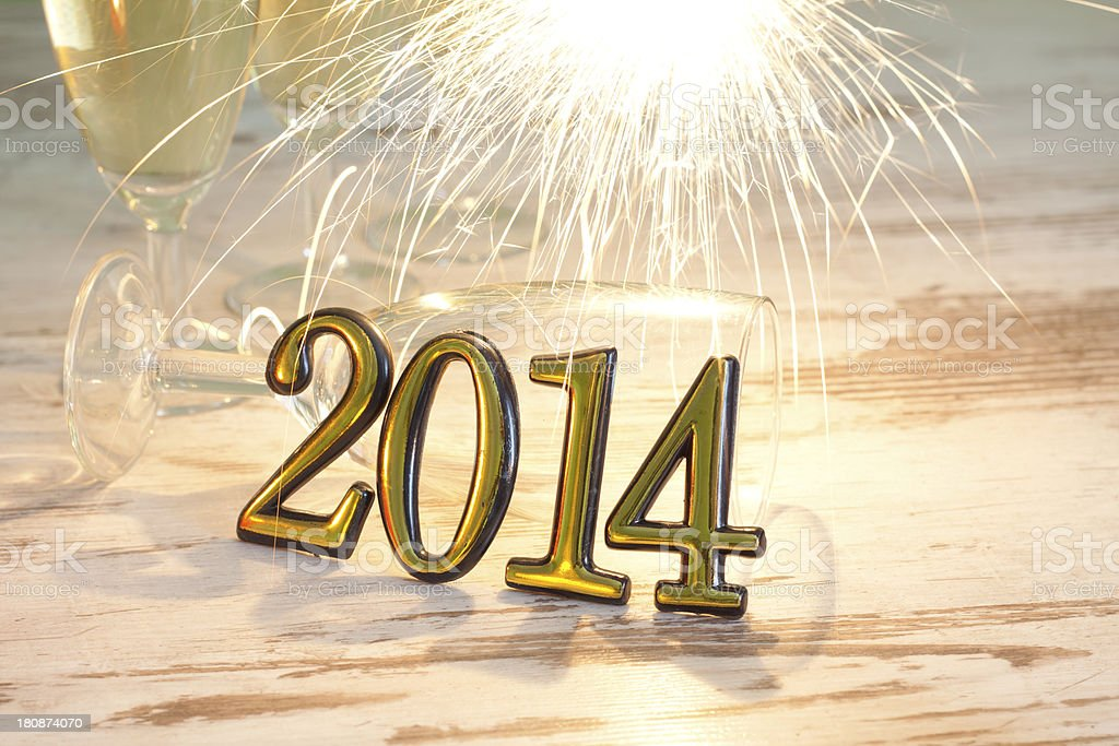 New year 2014 numbers sign royalty-free stock photo