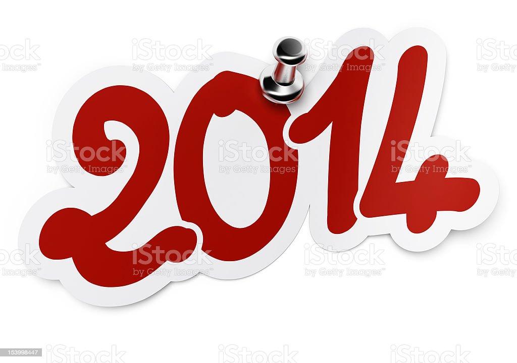 new year 2014 stock photo