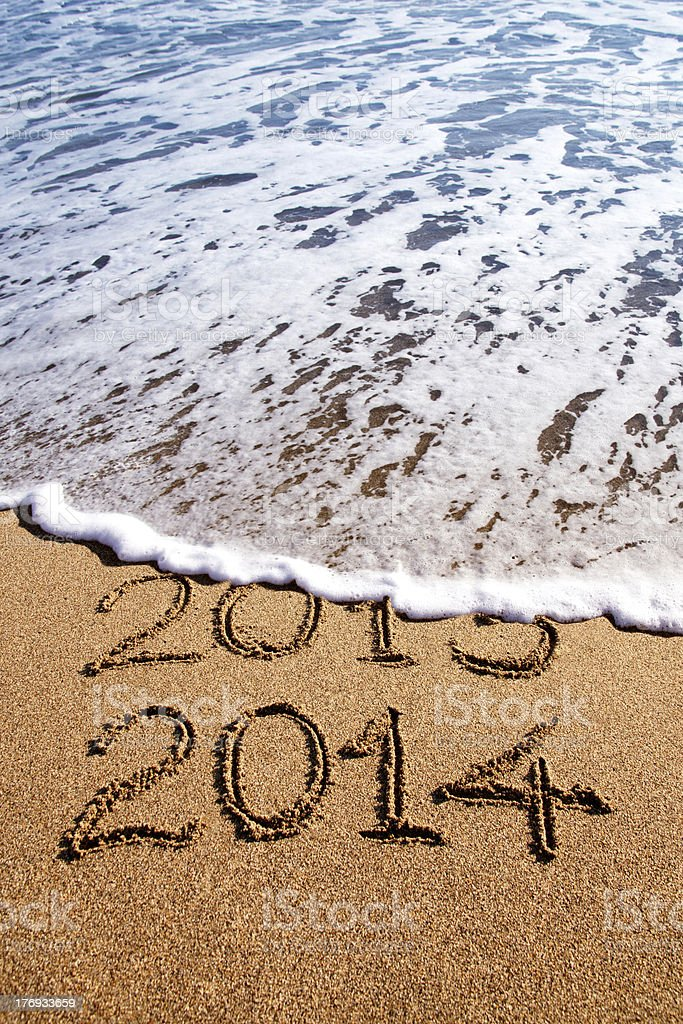 New year 2014 royalty-free stock photo