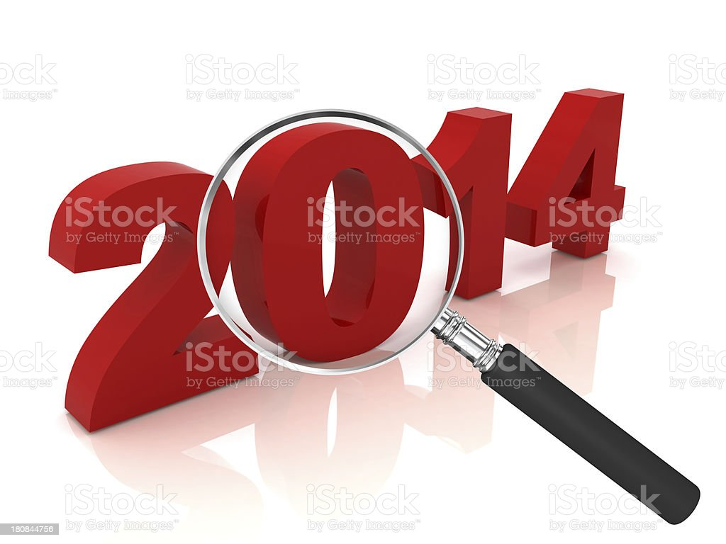 New Year 2014 Review royalty-free stock photo