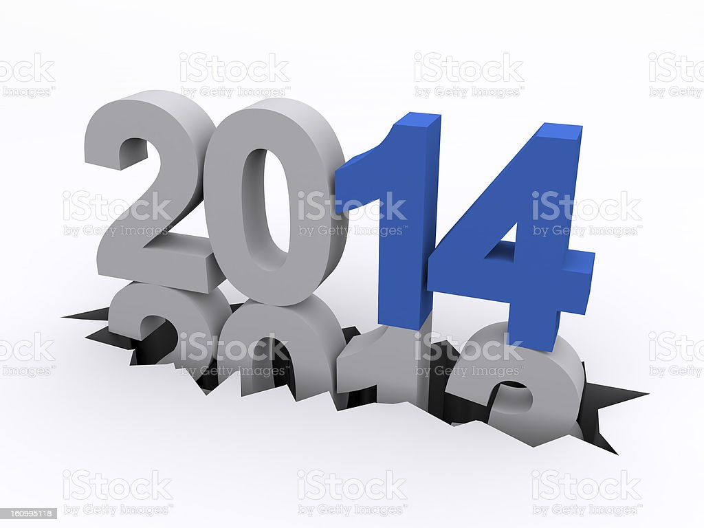 New Year 2014 versus 2013 royalty-free stock photo