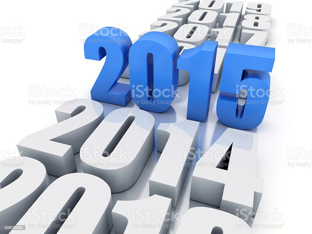 new year 2015 and other years stock photo