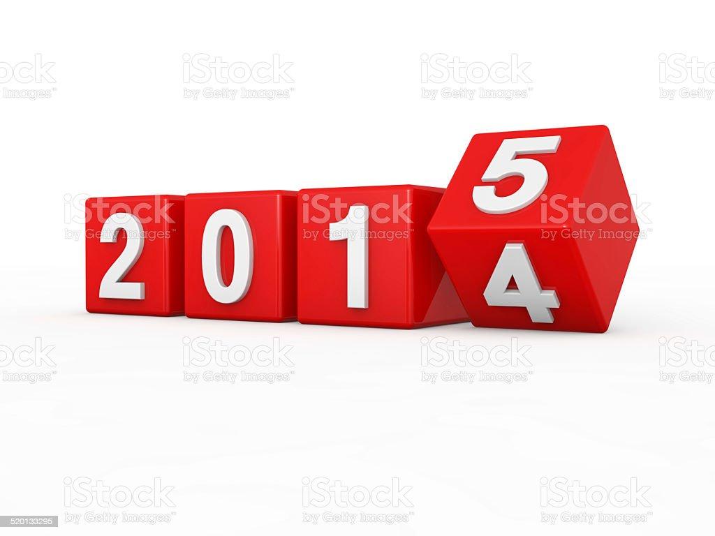 New year 2015 stock photo