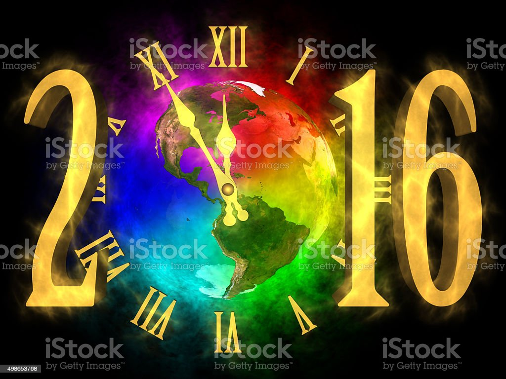 New year 2016 America vector art illustration
