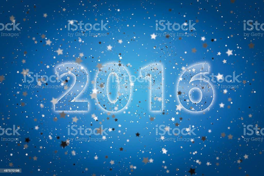 Neues Jahr 2016 Begrüßung's art Hintergrund Lizenzfreies stock-foto