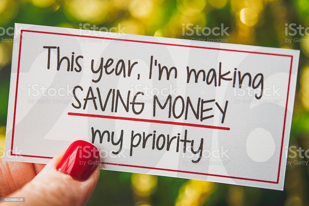 New Year 2016 is my year for saving money stock photo